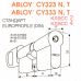 Двухсторонний механический цилиндр ключ/поворотная кнопка Abloy CY323 Novel (U)